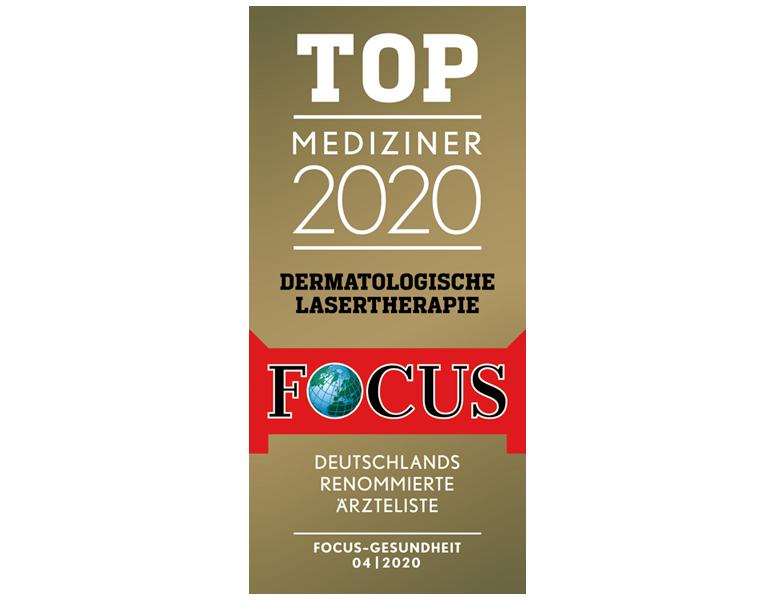 Siegel Focus Top Mediziner Dermatologische Lasertherapie